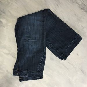 NYDJ wide leg dark stretch jeans in euc size 8